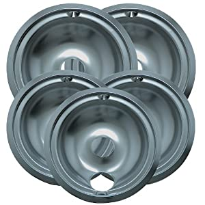 Range Kleen 16675X Drip Bowl Economy Set with Three 6-Inch Drip Pans and Two 8-Inch Drip Pans, 5-Piece