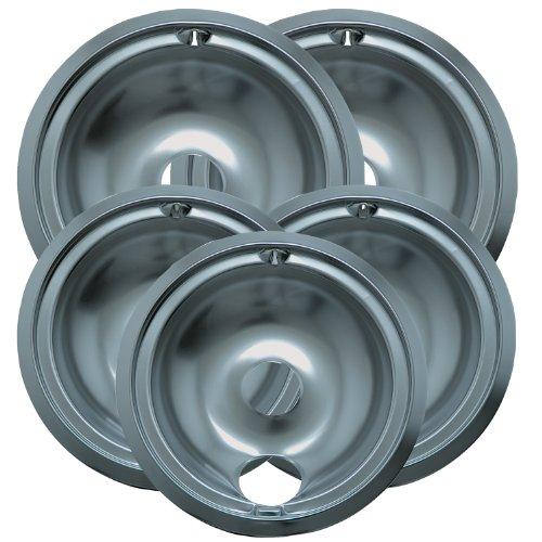 Range Kleen 16675X Drip Bowl Economy Set with Three 6-Inch Drip Pans and Two 8-Inch Drip Pans, 5-Piece (Stove Range Bowls compare prices)