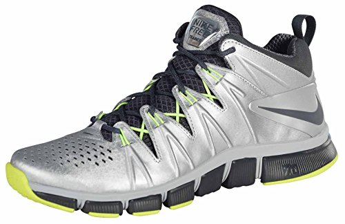 Nike Men's Free Trainer 7.0 SB Shoes-Metallic Silver/Antracite-Vlt-10