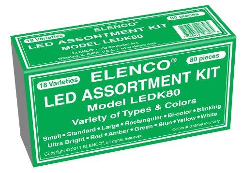 Elenco Electronics LEDK-80 80 pc LED Component Kit image