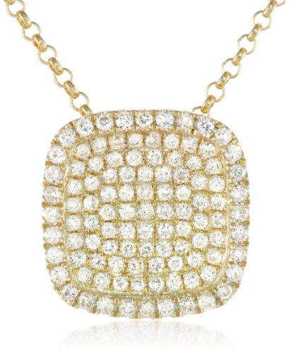 "Kc Designs ""Trinkets"" 14K Yellow Gold And Diamond Pave Pendant Necklace, 18"""