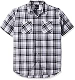Akademiks Mens Big-Tall Big and Tall Dove Plaid Buttondown Shirt
