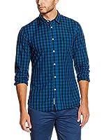 Dockers Camisa Hombre Laundered Poplin (Azul / Negro)