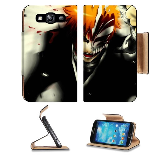 Bleach Hollow Ichigo Samsung Galaxy S3 I9300 Flip Cover Case With Card Holder Customized Made To Order Support Ready Premium Deluxe Pu Leather 5 Inch (132Mm) X 2 11/16 Inch (68Mm) X 9/16 Inch (14Mm) Liil S Iii S 3 Professional Cases Accessories Open Camer