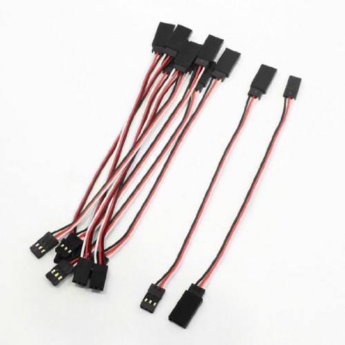 10 Pcs Remote Control Female to Male Servo Extension Cable Wire
