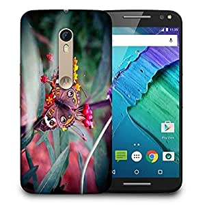 Snoogg Abstract Unique Butterfly Printed Protective Phone Back Case Cover For Motorola X Style