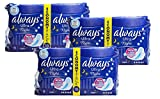 3 X Always Ultra Sanitary Towels Night with Wings 18 pads