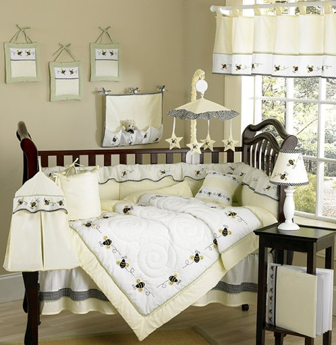 JoJo Designs 9-Piece Baby Designer Crib Bedding Set - Bumble Bee