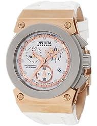 Invicta Women's 5570 Akula Russian Diver Chronograph White Dial White Leather Watch