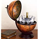 "Kassel 13"" Diameter Italian Replica Globe Bar - 330Mm Tabletop"
