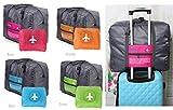 【Life Innovation】 スーツケースの持ち手に通せる!! 折りたたみバッグ ボストンバッグ トラベル バッグ 軽量 全4色 海外旅行 旅行 メンズ レディース 男女兼用