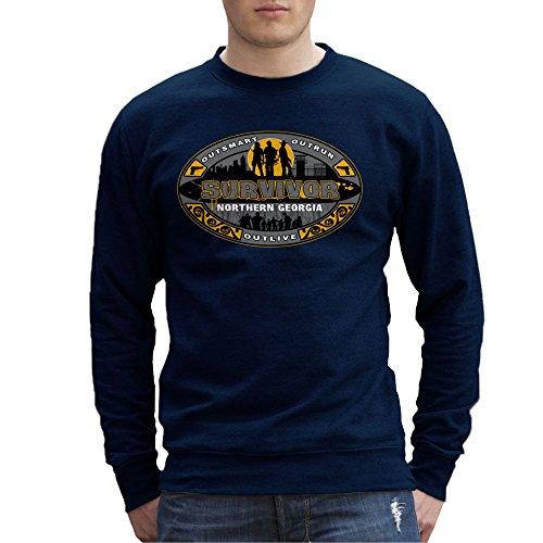 Outrun Outsmart Outlive Survivor North Georgia Walking Dead Men's Sweatshirt