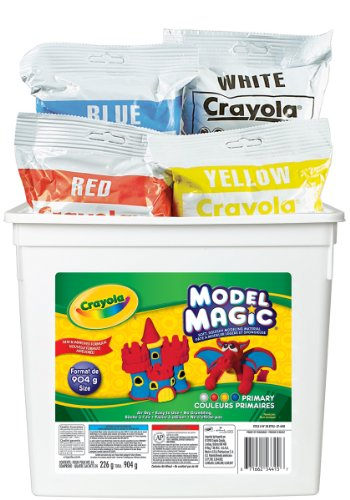 Crayola 574415 Model Magic Modeling Compound, 2lb. Bucket, Asstd Colors, Four 8oz. Pouches Picture