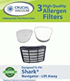 Shark Navigator Lift-Away Filter Kit Designed To Fit Shark NV351, NV352; Includes 1 Hepa Filter Compare To Shark Part # XHF350 & 1 Foam Filter and 1 Felt Pre-Filter Compare To Shark Part # XFF350; Designed & Engineered By Crucial Vacuum