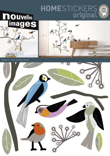 Home Stickers Birds by Laure Girardin Vissian Decorative Wall Stickers