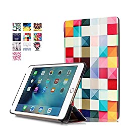 ProElite Designer Smart Flip Case cover for Apple iPad Mini 4 (Design-Squares) [ Will FIT only mini 4]