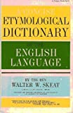 Concise Etymological Dictionary of the English Language (0399500499) by Skeat, Walter William