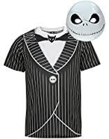 Nightmare Before Christmas Jack Skellington Adult Halloween Costume, Size Medium Top & Mask, Made under license from Tim Burton/Disney for the George Collection