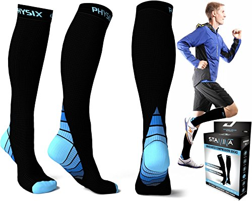 Compression Socks for Men & Women, BEST Graduated Athletic Fit for Running, Nurses, Shin Splints, Flight Travel, & Maternity Pregnancy. Boost Stamina, Circulation, & Recovery - Includes FREE EBook! (Running Gear compare prices)