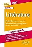 Les Faux Monnayeurs Gide Sophocle Oedipe Roi Bac Terminale Litteraire 2017 Sujets et Méthode...