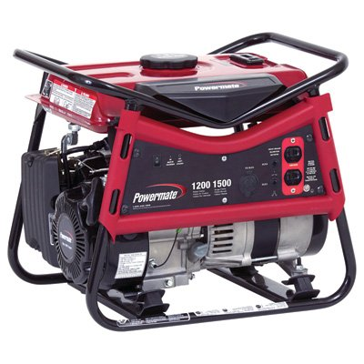Powermate Portable Generator - 1500 Surge Watts, 1200 Rated Watts, Model# PM0101207 PowerMate B007826H00
