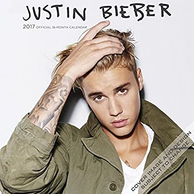Justin Bieber Wall Calendar 2017 {jg} Best Holiday Gift Ideas - Great for mom, dad, sister, brother, grandparents, , grandchildren, grandma, gay, lgbtq.