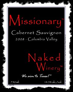 2008 Naked Winery Missionary Cabernet Sauvignon 750 mL