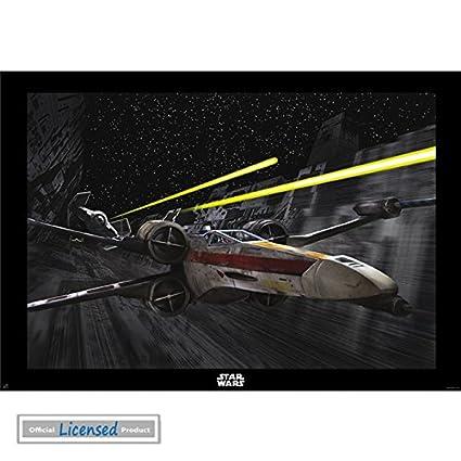 """Star Wars X-Wing Death Star Poster, 39"""" x 28"""""""