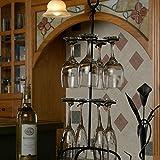 "Wire Black Wine Glass Rack Holder 25"" Height"