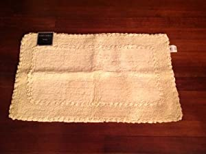 Laura Ashley 21 In By 34 In Rectangular Pale Yellow Cotton Bath M