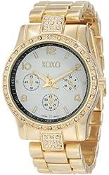 XOXO Women's XO5434 Rhinestones Accent Gold-Tone Bracelet Watch