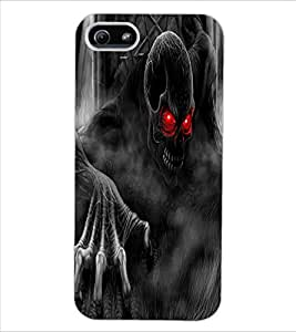 ColourCraft Scary Image Design Back Case Cover for APPLE IPHONE 5S