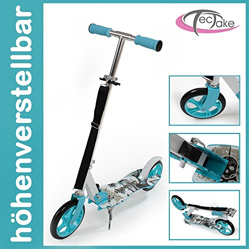 Scooter Roller Tretroller Cityroller Kinderroller klappbar 205 mm Wheel blau