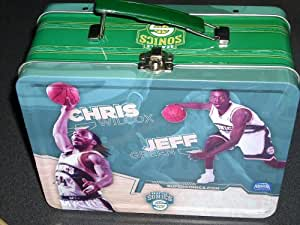 Seattle SuperSonics Basketball Tin Lunch Kit featuring Luke Ridnour, Earl Watson, Chris Wilcox and Jeff Green. Seattle Sonics Collectible