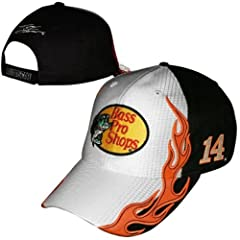 Tony Stewart Bass Pro Shops #14 Nascar Checkered Flag Fast Time Adjustable Hat Cap by Checkered Flag