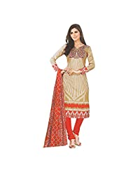 Siddhi Unstitched Cotton Printed Salwar Suit Dupatta Material ( SHOLA-5AA )