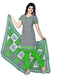 HIFI Ethnicwear Women's Dress Material(HIFI ALIYA2901_Grey_Free Size)