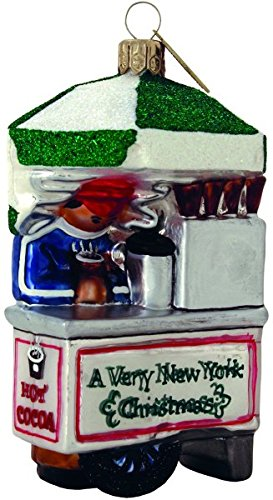 Hot Cocoa Vendor Hand Blown & Hand Decorated Ornament