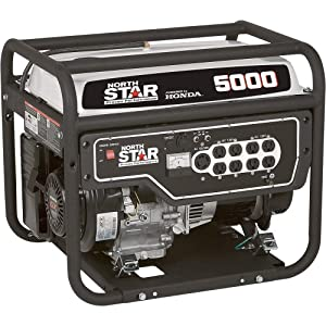 NorthStar Portable Generator - 5000 Surge Watts, 4000 Rated Watts, Model# 165610