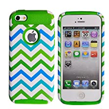 buy Iphone 6 Case Moukou(Tm) Unique Colorful Wave Hybrid Impact Case Silicone Cover For Iphone6 4.7Inch(W-Green)