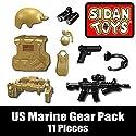 US Marine Gear Pack (11 Pieces) - Custom LEGO Minifigure Pieces