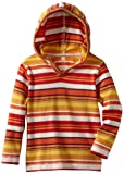 Tea Collection Boys 2-7 Ubuntu Stripe Hoodie, Cayenne, 6