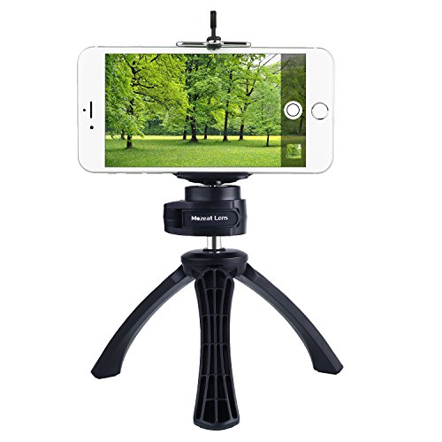 Tripod-with-Mount-for-iPhone-Samsung-Android-Cellphone-Mini-Tripod-Mount-Phone-Holder-Clip-Desktop-Tripod-14-Screw-Tripod-for-Digital-Camera-DSLR-Camera-Take-Beautiful-Videos-and-Selfies