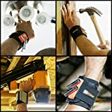 Magnetic-Wristband-By-MagBand-Super-Strong-Black-DIY-Magnet-wristband-The-Magnetic-Wristband-Is-A-Unique-And-Cool-Gift-Item-For-MenWomen-Dad-Guys-Husband-Boyfriend-Him-and-Birthdays