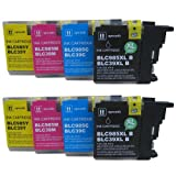 8 CiberDirect High Capacity Compatible Ink Cartridges for use with Brother MFC-J265W Printers.