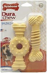 Nylabone Dura Chew Wolf Combo Pack Dog Chew Toy