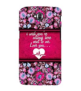 Love You Quote 3D Hard Polycarbonate Designer Back Case Cover for LG GPro Lite :: LG G Pro Lite Dual D686