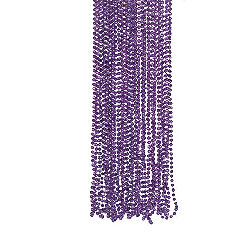Purple Metallic Bead Necklaces (4 dz) by Fun Express