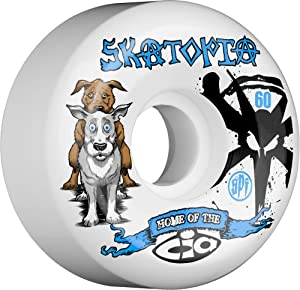 Buy Bones Skatopia Style Collab Skateboard Wheels (White, 60mm) by Bones Wheels