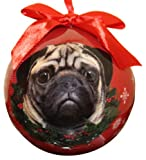 Pug Christmas Ornament Shatter Proof Ball Easy To Personalize A Perfect Gift For Pug Lovers